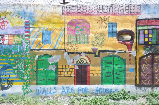 Artistic occupation of the Buffer Zone, near the Home for Co-operation (Nicosia)