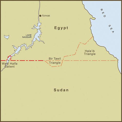 Bir Tawil, between the Egyptian and Sudanese borders. Source: http://schoolpress.cdn.whipplehill.net/stlukes096/197/files/2013/04/birtawil.jpg