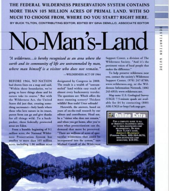 From: Backpacker Magazine, May 2000.